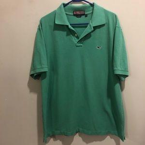Vineyard Vines polo shirt green size large